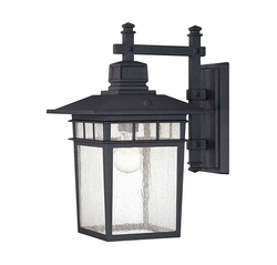 "Savoy House Linden 14.5"" Outdoor Lighting Sconce - Black 5-9591-BK"
