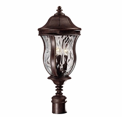 "Savoy House Monticello 24"" Exterior Post Lamp - Walnut KP-5-301-40"