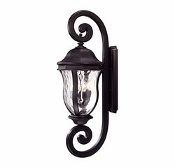 "Savoy House Monticello 40"" Outdoor Wall Lantern - Black KP-5-311-BK"