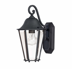 "Savoy House Truscott 14"" Exterior Light Sconce - Black 5-6211-BK"