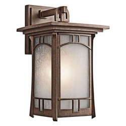 "Soria 15.25"" Exterior Wall Sconce By Kichler - Bronze 49451AGZ"