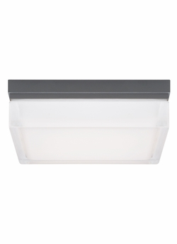 "Tech Boxie Large 9"" LED Charcoal Outdoor Wall/Ceiling Lighting Fixture 700OWBXL830H120"
