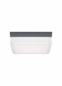 "Tech Boxie Small 6"" LED Charcoal Exterior Ceiling/Wall Light 700OWBXS830H120"