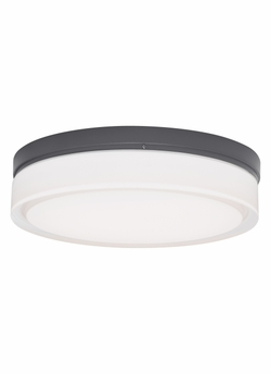 "Tech Cirque Large 9"" LED Charcoal Outdoor Wall/Ceiling Light Fixture 700OWCQL830H120"