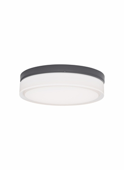 "Tech Cirque Small 6"" LED Charcoal Exterior Wall/Ceiling Light Fixture 700OWCQS830H120"