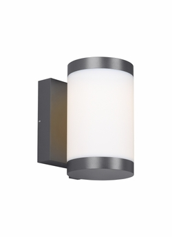 "Tech Gage 8"" LED Charcoal Exterior Wall Sconce 700OWGAG8308DHUNVS"