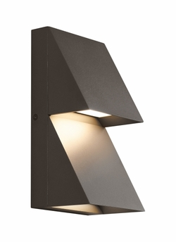 Tech Pitch Double LED Bronze Exterior Wall Lighting 700WSPITDZ-LED830