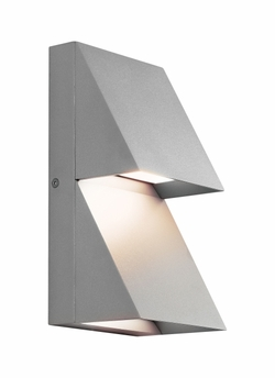 Tech Pitch Double LED Silver Outdoor Wall Lighting Fixture 700WSPITDI-LED830