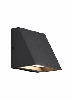 Tech Pitch Single LED Black Outdoor Wall Lighting 700WSPITSB-LED830