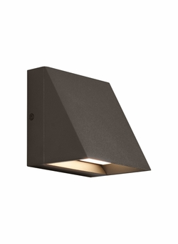 Tech Pitch Single LED Bronze Outdoor Wall Sconce 700WSPITSZ-LED830
