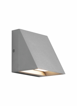 Tech Pitch Single LED Silver Outdoor Wall Light 700WSPITSI-LED830