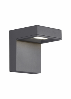 "Tech Taag 6"" LED Charcoal Exterior Wall Sconce 700OWTAG8306DHUNVS"