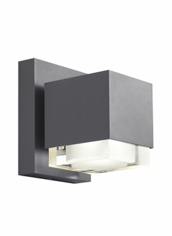 Tech Voto 8 LED Charcoal Outdoor Wall Sconce Lighting 700OWVOT8308HDOUNVS