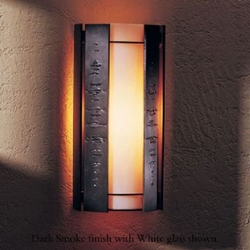 """Textured Panels 14.9"""" Outdoor Wall Sconce By Hubbardton Forge"""