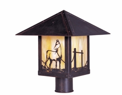 "Timber Ridge 10"" Outdoor Post Lighting Fixture By Arroyo Craftsman"