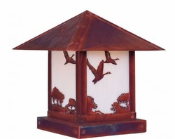 Timber Ridge 12 inch Outdoor Pier Mount with Goose Filigree