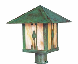 "Timber Ridge 12"" Outdoor Post Lamp By Arroyo Craftsman"