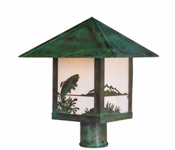 "Timber Ridge 12"" Outdoor Post Light By Arroyo Craftsman"
