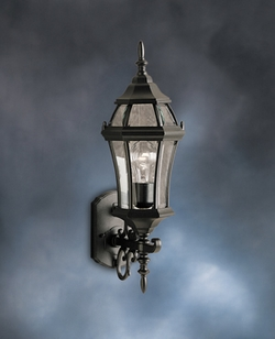 Townhouse Transitional Exterior Wall Light by Kichler 9790BK