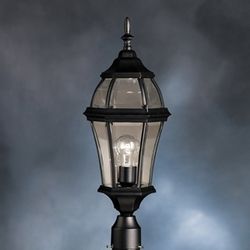 Townhouse Transitional Outdoor Post Lantern by Kichler 9992BK