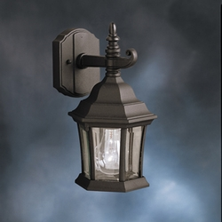 Townhouse Transitional Outdoor Wall Lantern by Kichler 9788BK