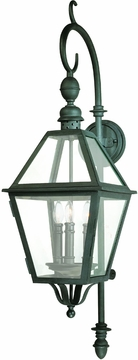 Townsend Three Dimensional Traditional Exterior Wall Sconce by Troy B9622NB