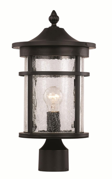 Trans globe 145 outdoor post light transitional 40383 aloadofball Choice Image