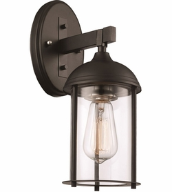 "Trans Globe 15.5"" Outdoor Wall Mounted Light - Black 50231-BK"