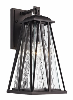 "Trans Globe 15.75"" Exterior Wall Lighting 50382-BK"