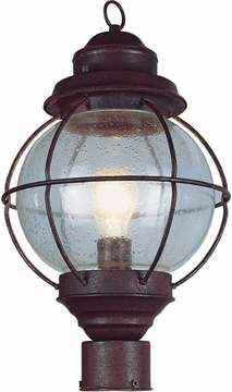 "Trans Globe 15"" Outdoor Post Lamp - Nautical 69902"