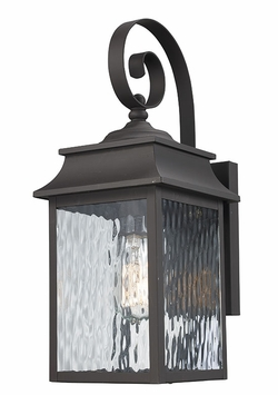 "Trans Globe 17"" Outdoor Wall Sconce Lighting - Bronze 50350-WB"