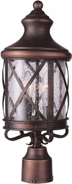 "Trans Globe 21.75"" Outdoor Post Lighting Fixture - Victorian 5123"
