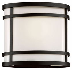 "Trans Globe 7.5"" Exterior Wall Lighting - Black 40200-BK"