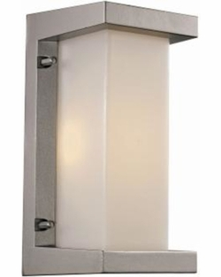 "Trans Globe LED 10.25"" Exterior Wall Lighting - Silver LED-40530-SL"