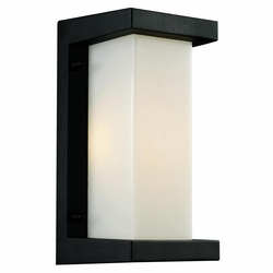"Trans Globe LED 10.25"" Outdoor Wall Lamp - Black LED-40530-BK"