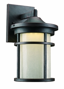 """Trans Globe LED 11"""" Outdoor Wall Sconce Lighting - Rust LED-40380-RT"""
