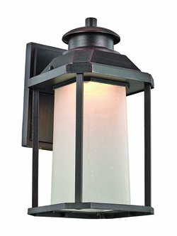 "Trans Globe LED 13.5"" Outdoor Wall Sconce - Rust LED-40931-RT"