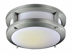 "Trans Globe LED 13.75"" Outdoor Flush Mount Light - Silver LED-40551-SL"
