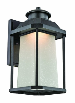 "Trans Globe LED 16.75"" Outdoor Wall Sconce Lighting - Black LED-40932-BK"