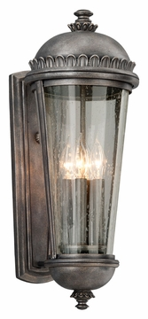 "Troy Ambassador 22"" Outdoor Wall Sconce Lighting - Pewter B3563"
