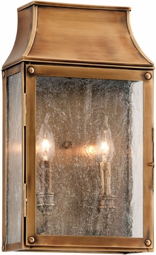 "Troy Beacon Hill 16.25"" Outdoor Wall Lighting - Brass B3422"