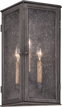 "Troy Bermuda 16.5"" Outdoor Wall Sconce - Pewter B3203"