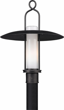 Troy Carmel Post Light Fixture - Graphite P3335