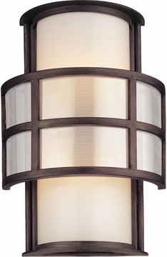 "Troy Discus 14"" Fluorescent Outdoor Light Sconce - Transitional BF2732"