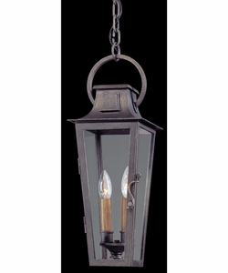 """Troy French Quarter 20.5"""" Outdoor Lighting Pendant - Pewter 2966"""