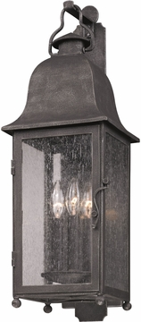 """Troy Larchmont 18.75"""" Outdoor Lighting Sconce - Pewter B3211"""