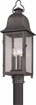 Troy Larchmont Outdoor Post Lamp - Pewter P3215