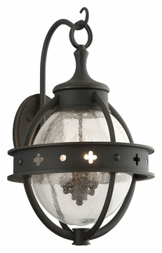 "Troy Mendocino 23.75"" Outdoor Wall Sconce Lighting - Black B3683"