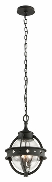Troy Mendocino Outdoor Pendant Lighting - Black F3686