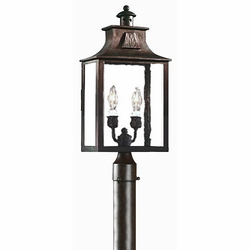 Troy Newton Traditional Outdoor Post Lantern - Old Bronze PCD9006OBZ
